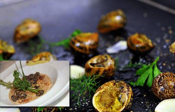 assiette du chef escargots